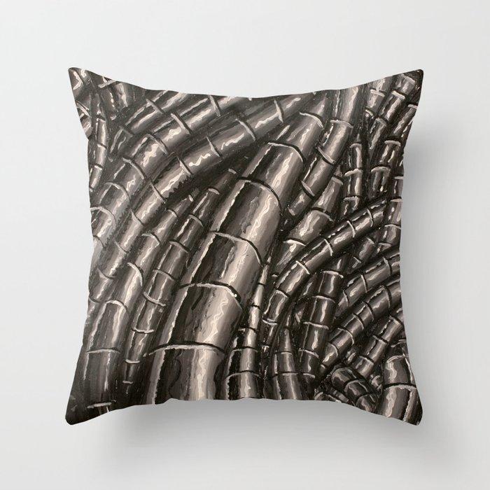metal cables Throw Pillow