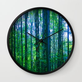 Afternoon Forest Wall Clock
