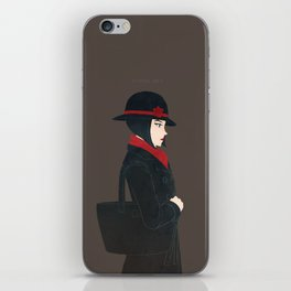 Lady in Black and Red iPhone Skin