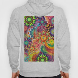 Funky Retro Pattern Abstract Hoody