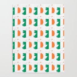 flag of ireland 3-ireland,eire,airlann,irish,gaelic,eriu,celtic,dublin,belfast,joyce,beckett Poster