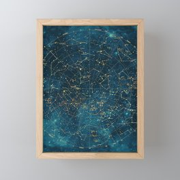 Under Constellations Framed Mini Art Print