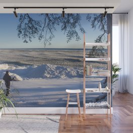 Freezing sea, Finnish gulf Wall Mural