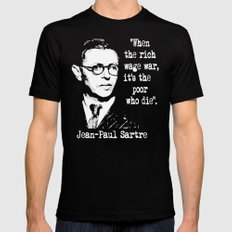 J P Sartre Black SMALL Mens Fitted Tee