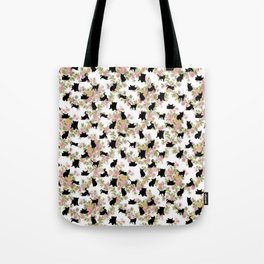 Kittens Floral Tote Bag
