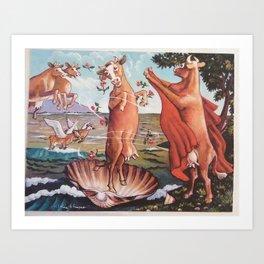 Venus Beef Art Print