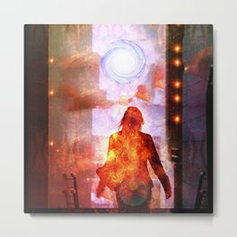 Her Infernal Exit Metal Print
