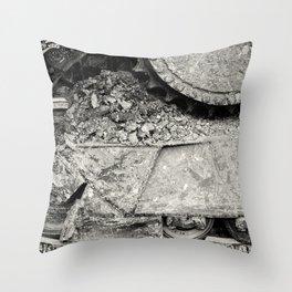 Bulldozer Dirt Fest Throw Pillow