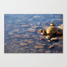 Pebble Stones by the Sea 7738 Canvas Print