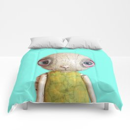 Sheldon The Turtle - Teal Blue Comforters