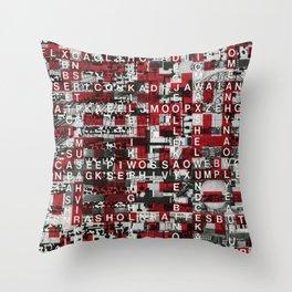 Paradox Network (P/D3 Glitch Collage Studies) Throw Pillow