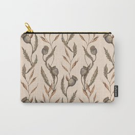 Poppy Pod Pattern Carry-All Pouch