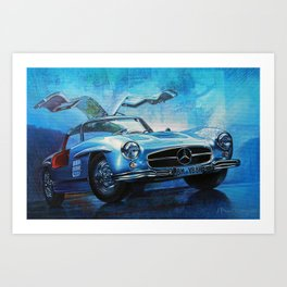 Legendary car 300SL «Gull-wing» Art Print
