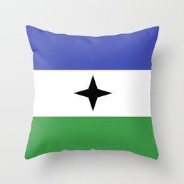 Bubi Bantu people ethnic flag cameroon africa Throw Pillow