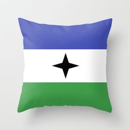 Bubi Bantu people ethnic flag cameroon africa Throw Pillow