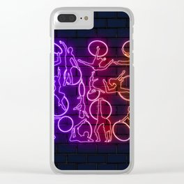 Gymastics neon Clear iPhone Case