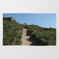hiking Area & Throw Rugs featuring Let's go Hiking! by Cool Goon