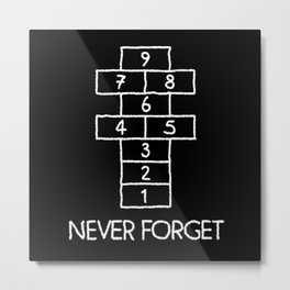 Never Forget 90s 90s Costume Metal Print