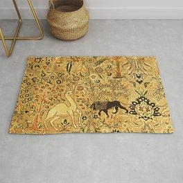 Antique Persian Tabriz Animal Rug Print Rug