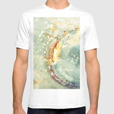 Breaking Lights (abstract) Mens Fitted Tee White MEDIUM