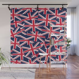 Union Jack Flags Wall Mural