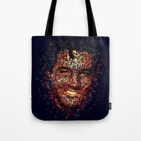 elvis Tote Bags featuring Elvis  by Msimioni