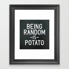 Random Framed Art Print