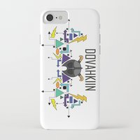 skyrim iPhone & iPod Cases featuring Skyrim: The Dovahkiin - BLUE by E_Nicholson