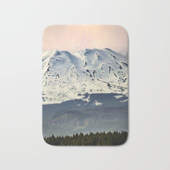 Mount St. Helens at Sunset Bath Mat