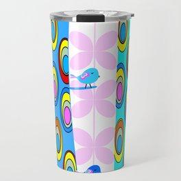 Birds and colorful trees Travel Mug