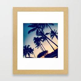 Hawaiian blue Framed Art Print
