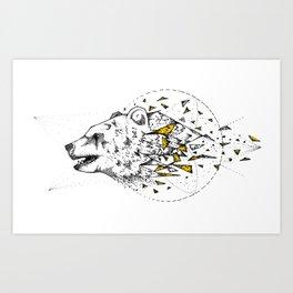 Bear Shatter Art Print