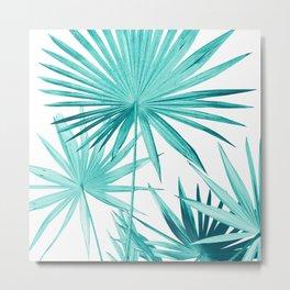Fan Palm Leaves Jungle #3 #tropical #decor #art #society6 Metal Print