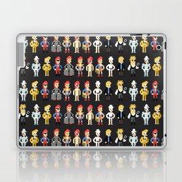 Bowie pixel characters Laptop & iPad Skin