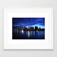 cincinnati Framed Art Prints featuring Cincinnati Skyline by  Rikki
