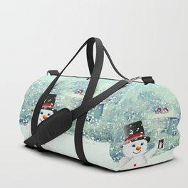 Snowman Selfie Duffle Bag
