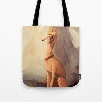 greyhound Tote Bags featuring GREYHOUND by GentleSquid