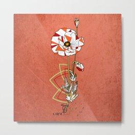 Coquelicot - geometric flower Metal Print