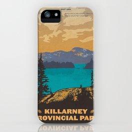 Vintage poster - Killarney Provincal Park, Canada iPhone Case