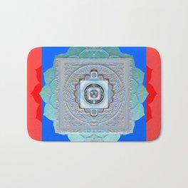 Color Bliss Therapy Vintage Texture Mandala Bath Mat