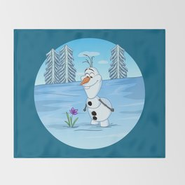 Olaf In Summer Throw Blanket