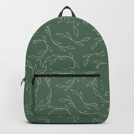 Green Climbing Leaves Backpack