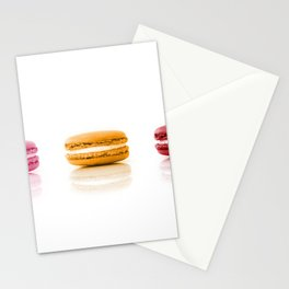 Red, Yellow, Pink, Macarons Stationery Cards