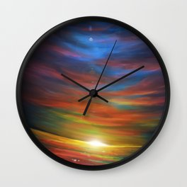 Sunset sky Wall Clock