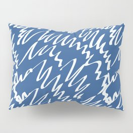 Navy scribble pattern abstract Pillow Sham