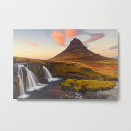 gorgeous kirkjufell mountain at sunset // iceland Metal Print