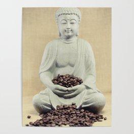 Coffee beans Buddha 3 Poster