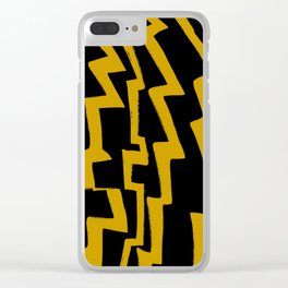 Thunder and abstraction 5-thunderbolt,thunder,storm,fire,ligthning,electric,rumble Clear iPhone Case