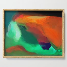 abstract painting Serving Tray