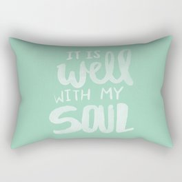 It Is Well With My Soul x Mint Rectangular Pillow